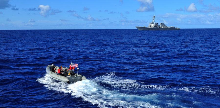 環太平洋合同演習 軽装備の射撃訓練など展開 環太平洋合同演習「リムパック2014」--政治--P