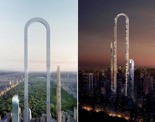 米国の建築事務所、U字型の超高...