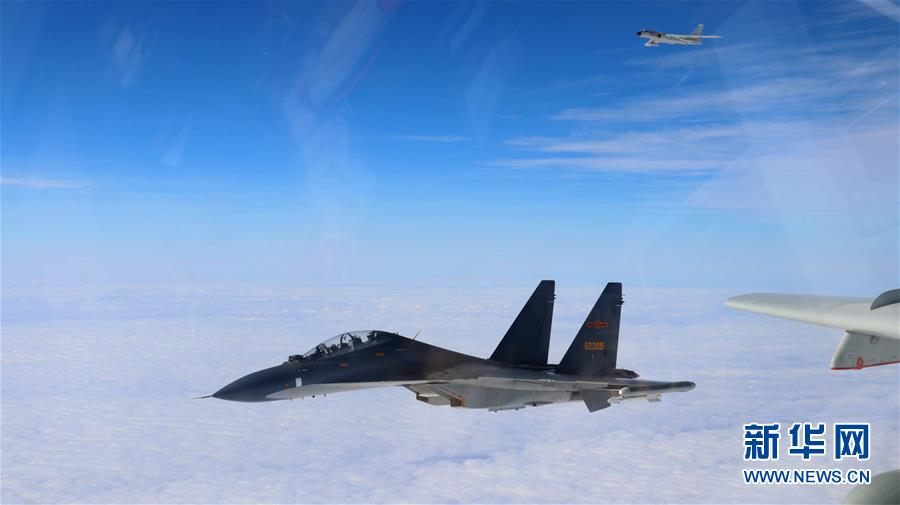 Chinese Air Force planes pass the Miyako Strait for ocean training