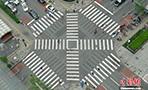 北京市に初のスクランブル交差点登場