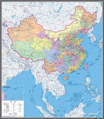 新版中国地図 南中国海諸島と大陸を初めて同縮尺で表示