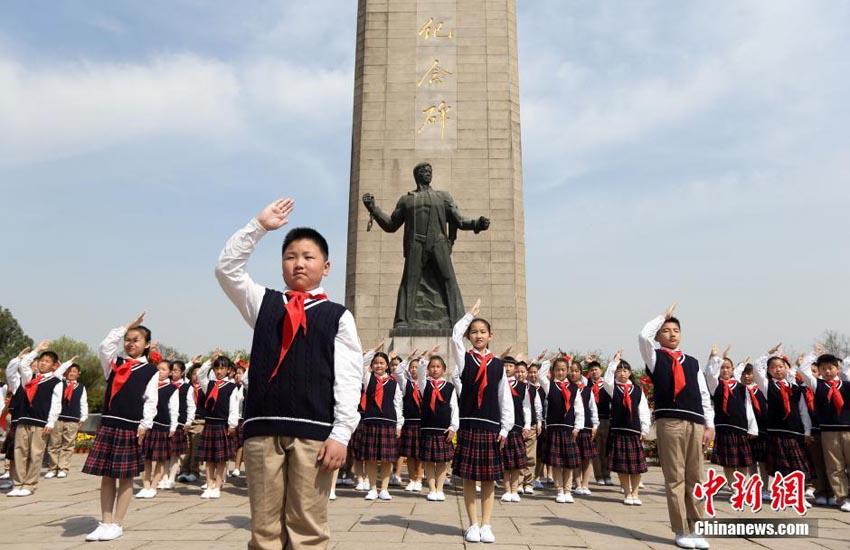 南京 雨花台烈士陵園で革命烈士...
